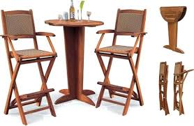 Oak Breakfast Bar Table Bar Stool Foldable Wood Bar Stool Folding Wooden Breakfast Bar