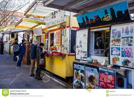 Portland Food Carts Map by Portland Oregon Food Trucks And Carts Editorial Photography