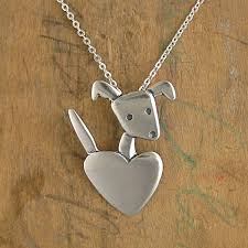 dog necklace silver images Heart dog charm pendant necklace mark poulin jpg