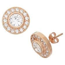 zirconia earrings bottom halo cubic zirconia earrings in gold silver target