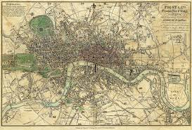 Map Fabric 1820 London Map Wallpaper Janinez Spoonflower