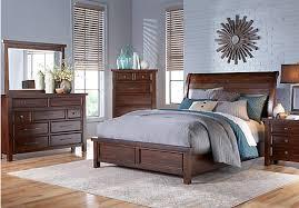 mango burnished walnut 5 pc king panel bedroom 1 255 00 find