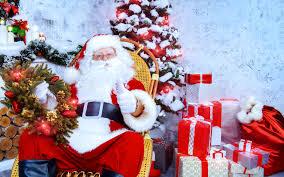 picture christmas santa claus christmas tree present 3840x2400