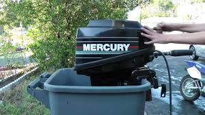 9 9hp mercury 2 stroke outboard tiller motor start up youtube