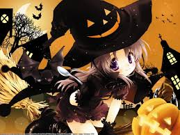 halloween chibi background happy halloween wallpaper anime shantytown