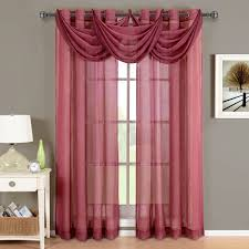 Magenta Curtain Panels Abri Burgundy Sheer Curtain Panel For The Trendy Bed