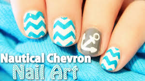nautical chevron nail art totallycoolnails youtube