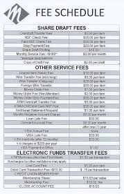 fee schedule template schedule template free