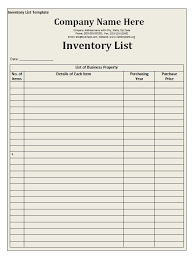 comprehensive home inventory checklist template word