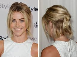 julianne hough shattered hair quince hairspiration hot half up styles short hair pony and