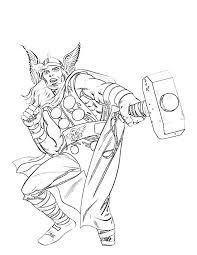 Coloriage Thor   imprimer gratuitement