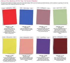 Color Palette Pantone Spring 2018 Colors For Fashion Jill Wolcott Knits