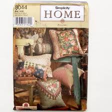 simplicity home decor simplicity home decor pillows sewing pattern 8044 uncut 12