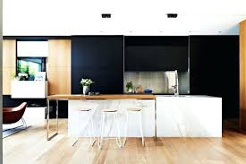 cuisine blanc et bois deco cuisine noir et blanc daccoration cuisine noir blanc bois