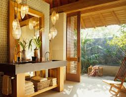 Pendant Lighting Bathroom Vanity Beach Style Outdoor Pendant Lights Bathroom Tropical With Wood