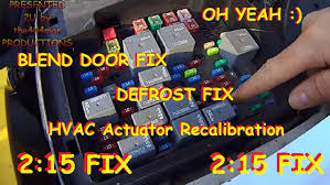 blend door fix chevy truck u0026 suv hvac actuator recalibration 2003