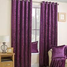 Plum Velvet Curtains Crushed Velvet Lined Eyelet Curtains Plum Ebay