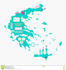 Map Greece by Map Of Greece Machine Stock Vector Image 71938807