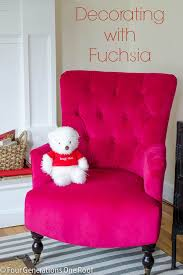 fuschia chair i heart fuchsia our new chair four generations one roof