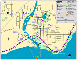 Wisconsin On The Map by Interactive Map Manistique Tourism Council