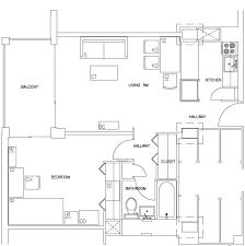 Efficiency Apartment Floor Plans Escondido Village Midrise Apartments Stanford R U0026de