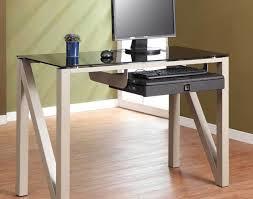 Z Line Belaire Glass L Shaped Computer Desk Desk Miraculous Black Glass Desk Accessories Valuable Black