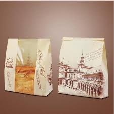 clear wrapping paper 21 9 33cm clear window kraft toast bag food baking paper bags for