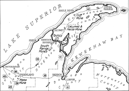peninsula michigan map map of keweenaw peninsula michigan michigan map