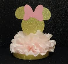 minnie centerpiece birthday party or baby shower pink gold 1st