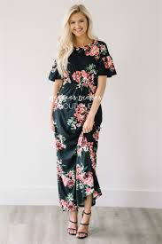 maxi dresses with sleeves black mauve ruffle sleeve floral maxi modest dress best and