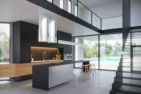 black modern kitchens 3 modern villas that embrace indoor outdoor living