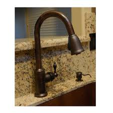 copper kitchen faucets premier copper single handle kitchen faucet with pull out sprayer