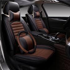 housse siege avant voiture 5 siège avant et arrière auto siège couvre housse de siège de