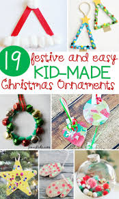 festive and simple kids u0027 christmas ornaments the kindergarten