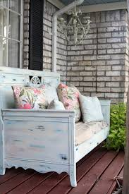 Shabby Chic Bench Attractive Outdoor Shabby Balcony Ideas Featuring Ravishing Wooden