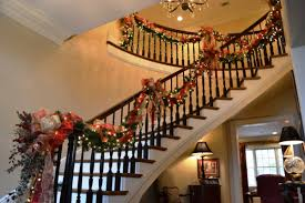 Christmas Decoration Ideas For Your Home Staircase Christmas Decorations Home Design Ideas