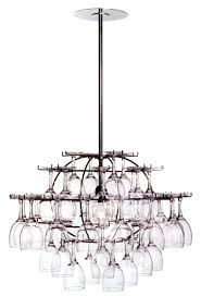 Chandelier Wine Glass Lighting Fixtures For Wine Enthusiasts Inside The Designers Studio