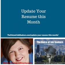 Job Seekers Resume by Update Your Resume This Month The Voice Of Job Seekers