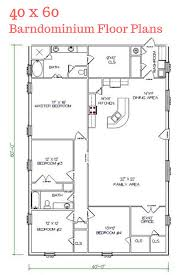 garage metal barn homes floor plan with large family area for