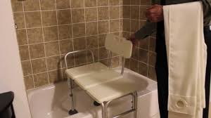 extended bath bench invacare benchbuddy shower curtain youtube