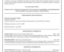 awesome design ideas phlebotomist resume examples 14 example