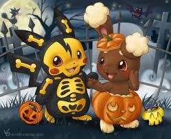 background halloween art a poke halloween by virtual blue on deviantart