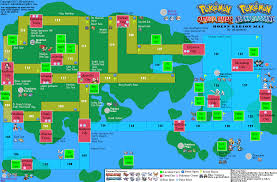 Labeled World Map Pokemon Alpha Sapphire Hoenn World Map For 3ds By Mkaykitkats