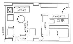 Efficiency Apartment Floor Plans International House Philadelphia Housing Options