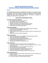 Warehouse Skills Resume Sample by Warehouse Skills On Resume Resume For Your Job Application