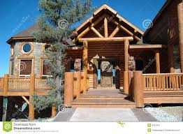 log cabin style home royalty free stock photo image 6031875