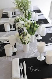 black and white wedding 52 black and white wedding table settings weddingomania