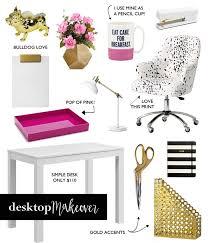Home Office Desk Top Accessories Desktop Makeover White Desks Stapler And Desks