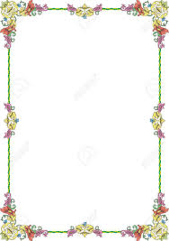 historical frame in pastel color with floral ornaments in din