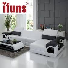 Orange Floor L Ifuns Brillancy Orange Genuine Leather Corner Sofas Modern Design